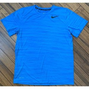 Nike Men's Dri-Fit Blue T Shirt Size Medium